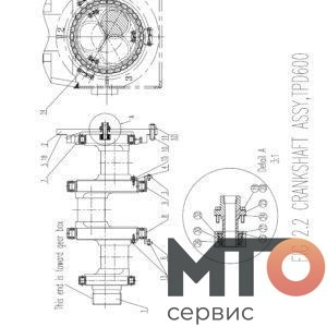 КОЛЕНЧАТЫЙ ВАЛ В СБОРЕ TPD600 P61 12 001