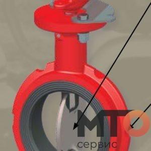 Дисковый поворотный клапан control drive Weco FMC