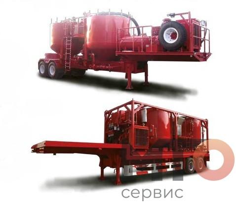 BACTLR-300-100 Батч-миксер на полуприцепе Serva