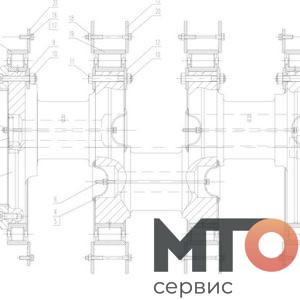 Crankshaft Коленчатый вал Кривошина Р40-12-000 TPH400 pumpSJS