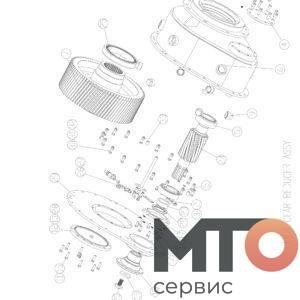 РЕДУКТОР В СБОРЕ GEAR REDUCER ASSY P60 14 000
