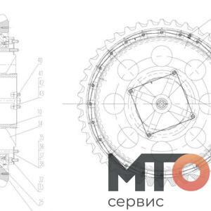 Ring gear Кольцевая передача P40-14-400 TPH400 pumpSJS