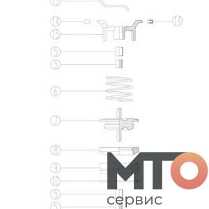 VALVE SUBASSEMBLY ПРЕДОХРАНИТЕЛЬНЫЙ КЛАПАН P40-40-200