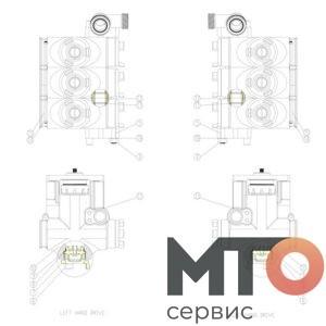 FLUID SECTION SUBASSEMBLY УЗЕЛ СЕКЦИИ P40-33-700 TPH400 pumpSJS