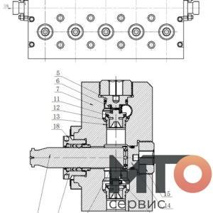 Гидравлическая часть Hydraulic part KTZ1000 PETRO KH