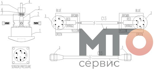 манометр PCS-621A Serva