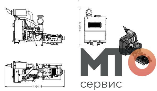 Двигатель C13 4700 OFS PCS-621A Serva